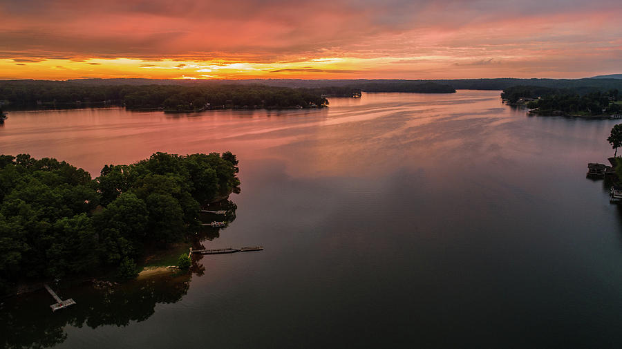 Summer Lake Sunrise by Star City SkyCams