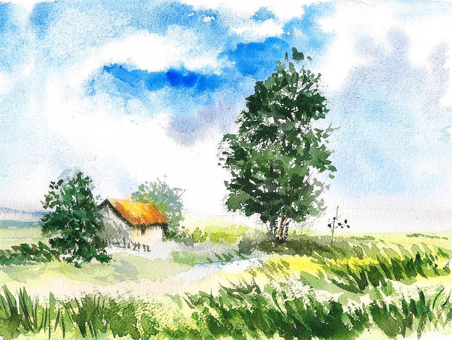 Summer landscape by Asha Sudhaker Shenoy