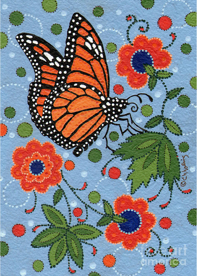 Monarch Painting - Summer Monarch Butterfly by Chholing Taha