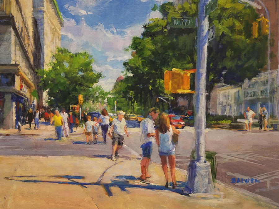 Foliage Painting - Summer Morning on Upper Broadway No. 2 by Peter Salwen