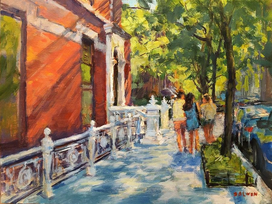 Summer Morning On West 82nd  Painting by Peter Salwen