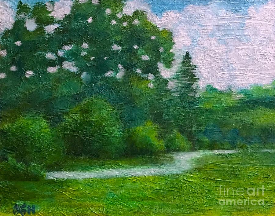 Summer Painting - Green Summer  by Wonju Hulse