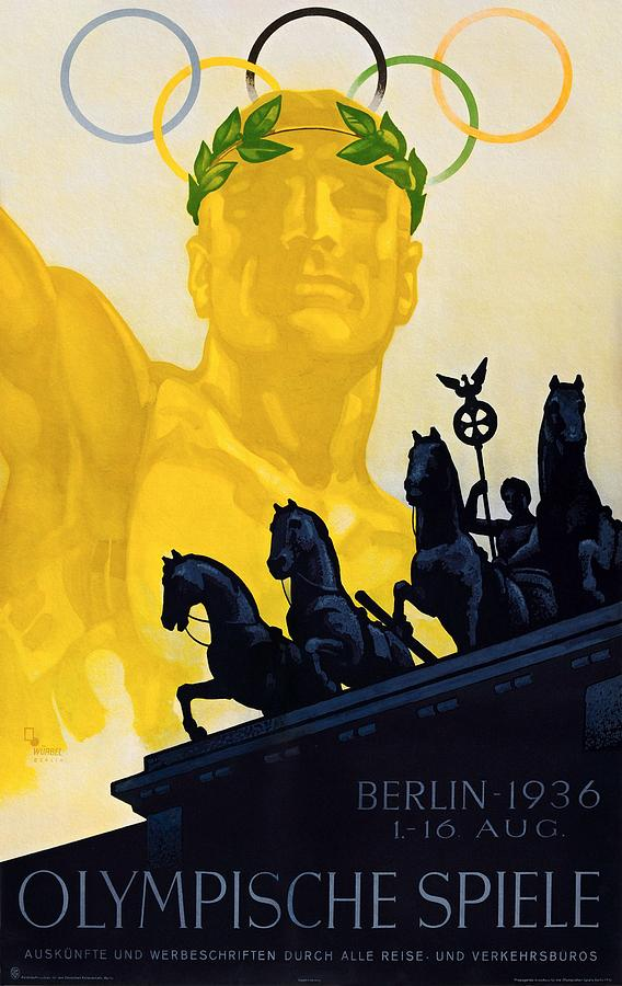 Summer Olympic Games Berlin 1936 Poster by Franz Wurbel
