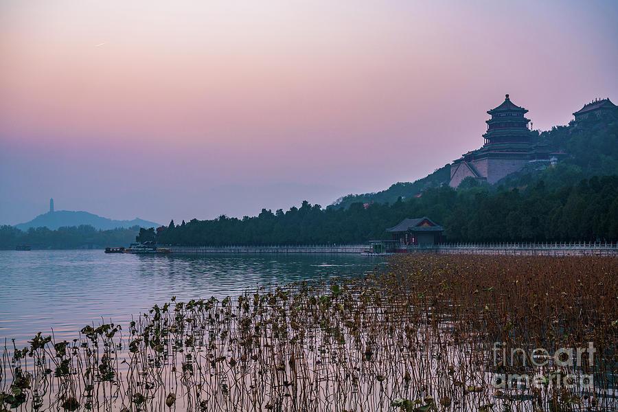 China Photograph - Summer Palace Haze Sunset by Mike Reid