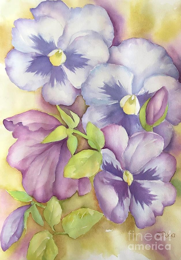 Summer pansies by Inese Poga