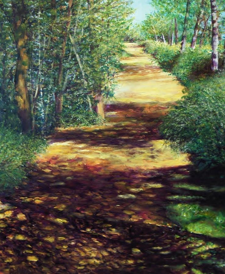 Summer Path Painting by Sheldon Goldman
