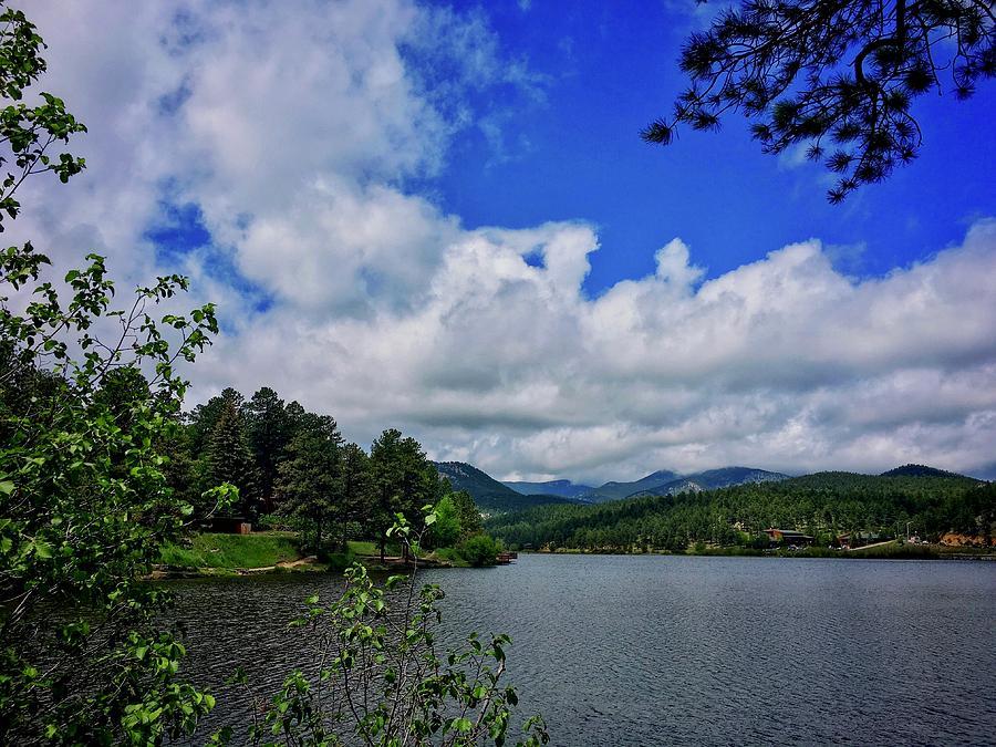 Summer Sky Evergreen Lake by Dan Miller
