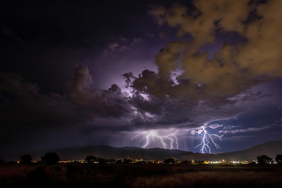 Summer Storm Over Cedar City by Geoffrey C Lewis