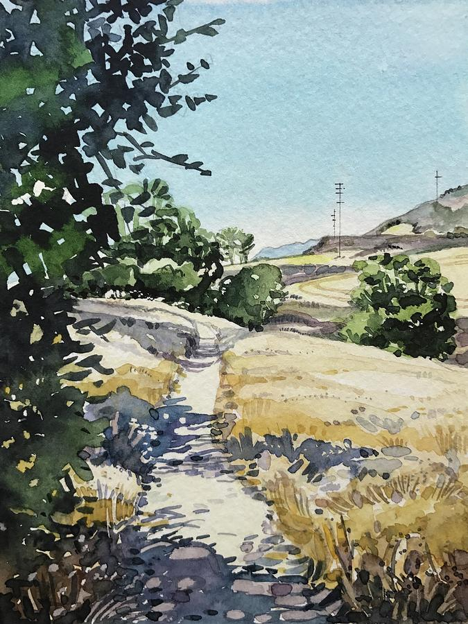 Summer Stroll - Malibu Creek Painting