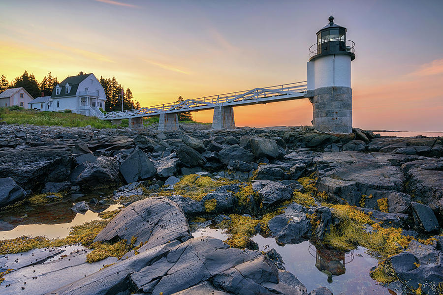 Summer Sunrise at Marshall Point Lighthouse by Kristen Wilkinson