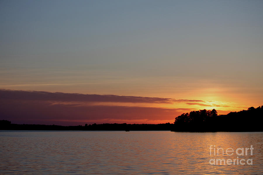 Summer Sunset on the River by Tim Lent