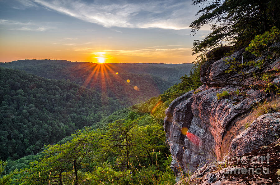 Big Photograph - Summer Sunset Over The Big South Fork by Anthony Heflin