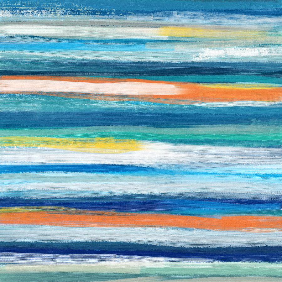 Beach Painting - Summer Surf 3- Art by Linda Woods by Linda Woods