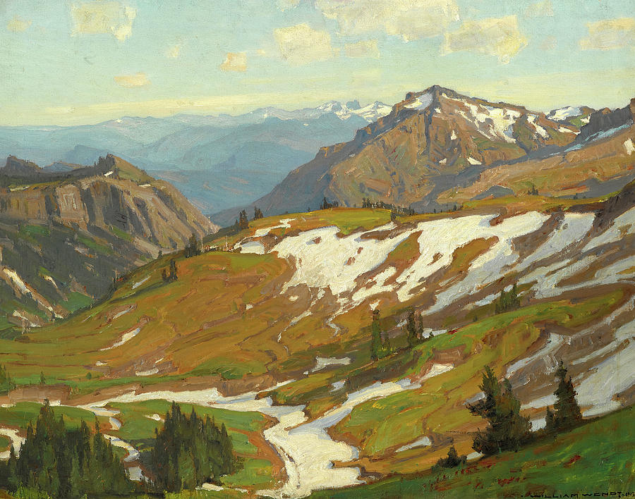 William Wendt Painting - Summer Thaw by William Wendt