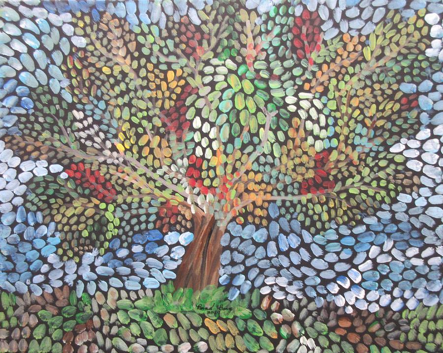 summer tree mosaic by Bradley Boug