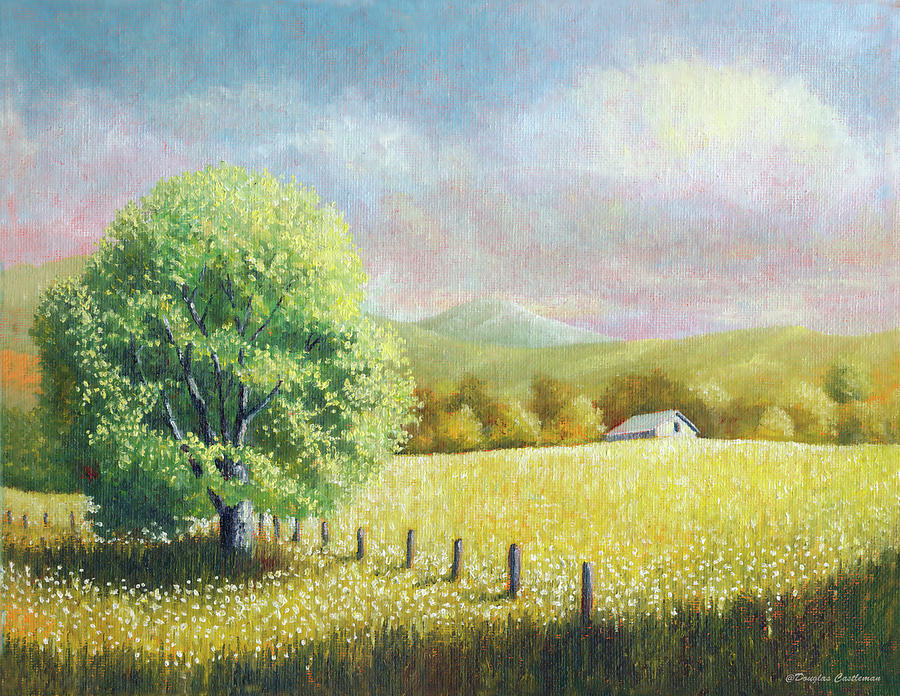 Summer Tree with Farmhouse by Douglas Castleman