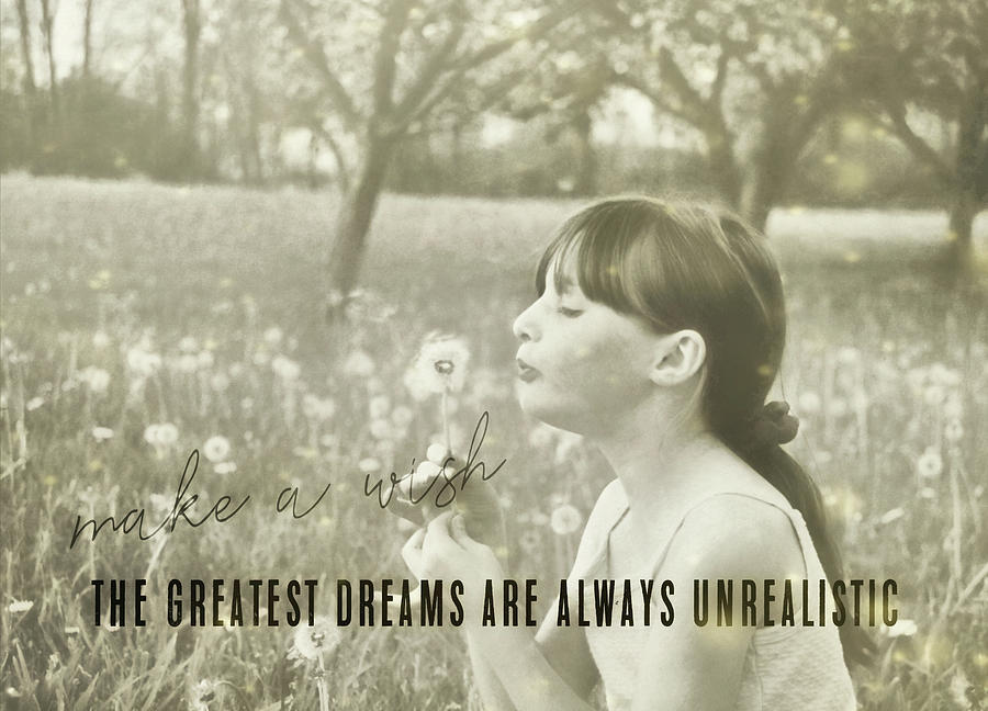 Child Photograph - Summer Wish Quote by JAMART Photography