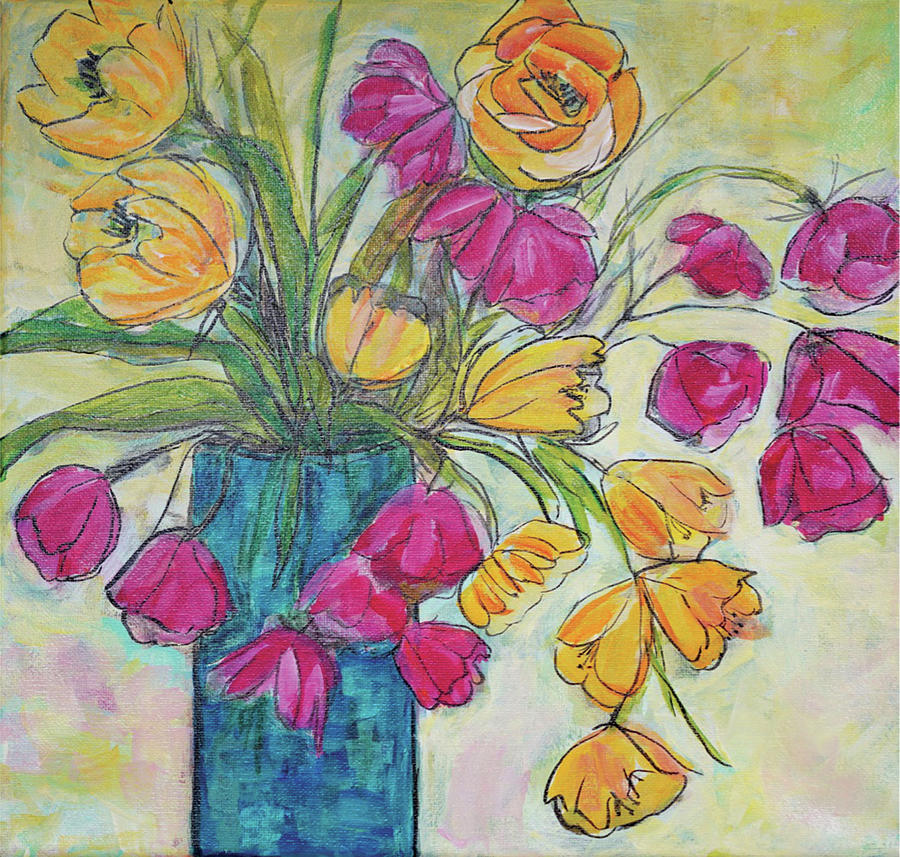 Acrylic Mixed Media - Summers Love by Christine Chin-Fook