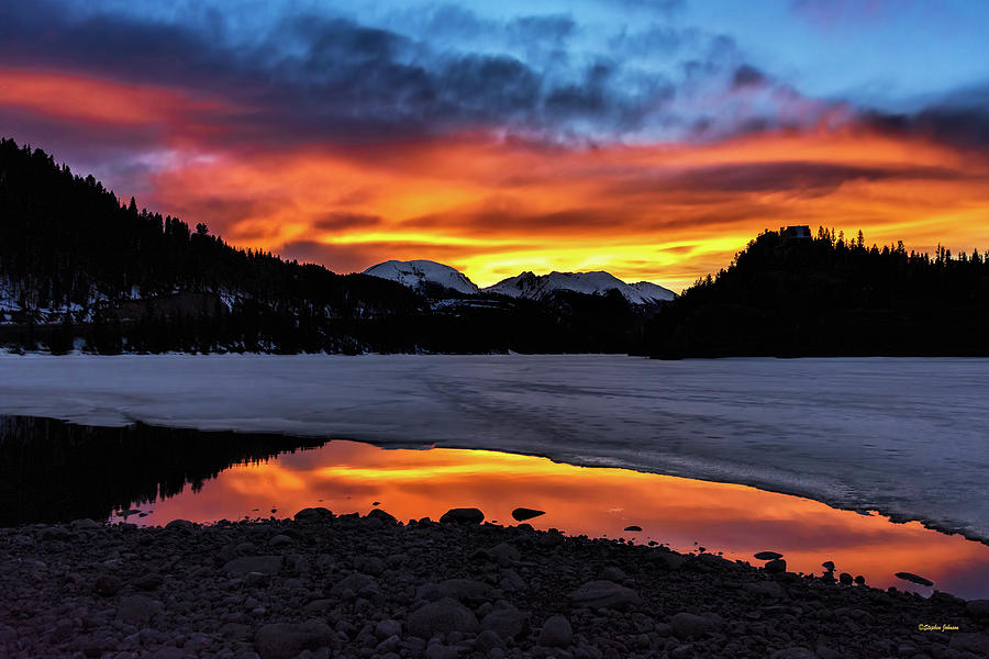 Summit Cove Sunset Reflections by Stephen Johnson