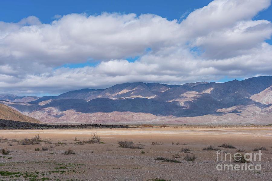 Desert Photograph - Sun And Shadow - Clark Dry Lake  by Jeff Hubbard