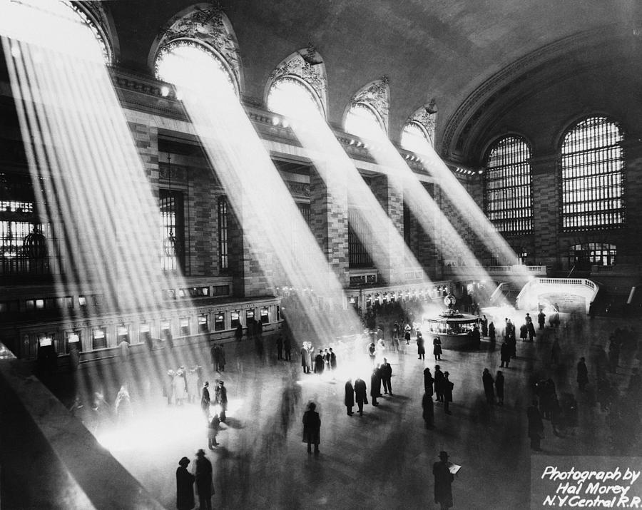 Sun Beams Into Grand Central Station Photograph by Hal Morey