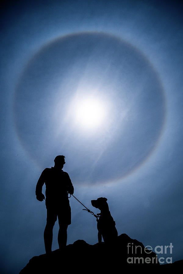 22 Degrees Photograph - Sun Dog  by Keith Morris