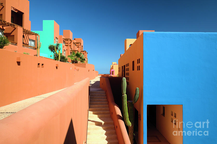 Sun Drenched Colorful Architecture by George Oze