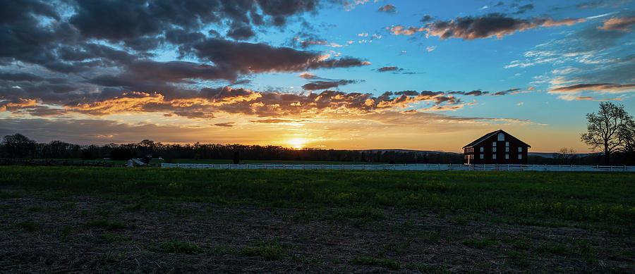 Sun on the farm by Dan Urban