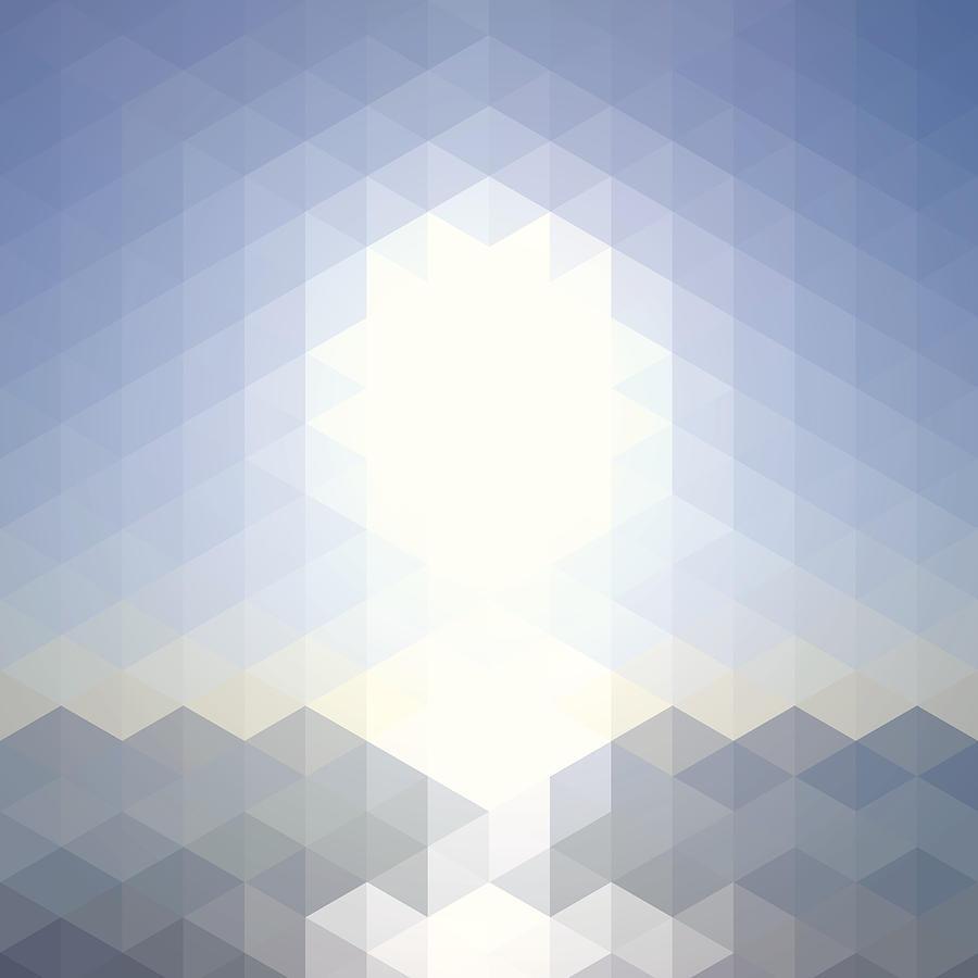 Sun Over The Sea - Abstract Geometric Digital Art by Bgblue