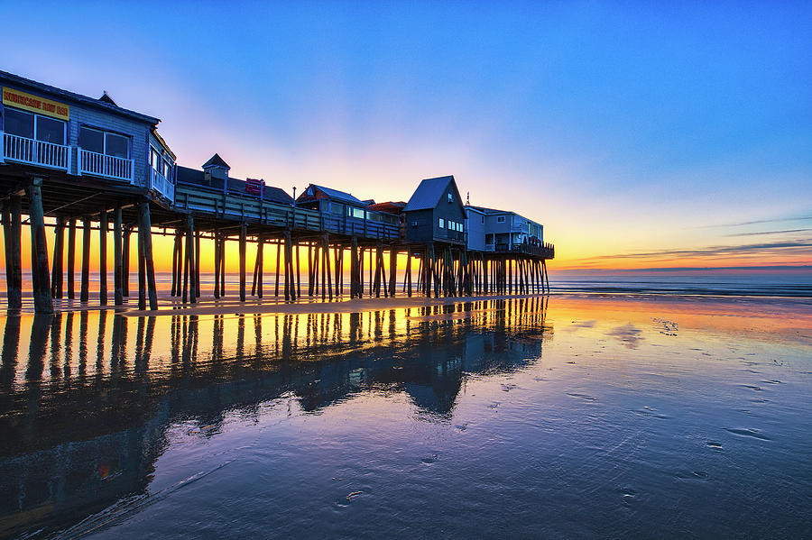 Sun Rays over Old Orchard Beach Pier by Juergen Roth