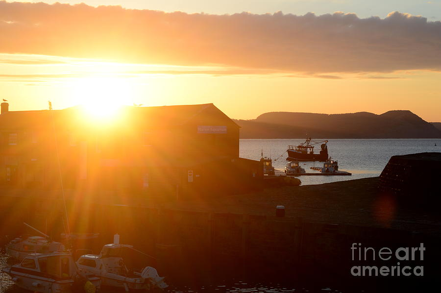 Sun Photograph - Sun Rise at Lyme Regis  by Andy Thompson