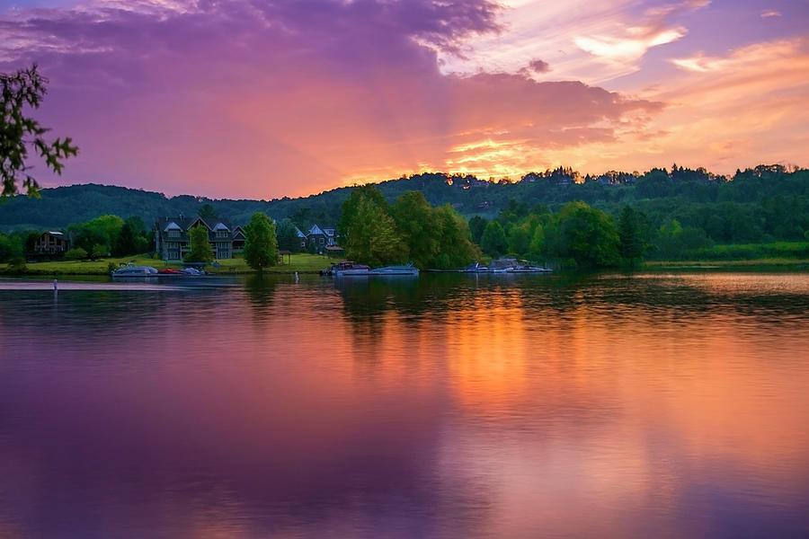 Sun Set Over Deep Creek Lake by Reynaldo Williams