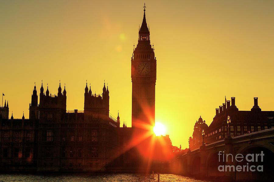 Sun Setting in London by John Rizzuto