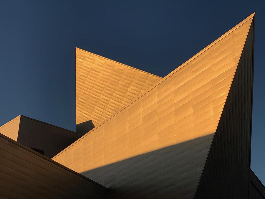 Sun Setting on Denver Art Museum by Marilyn Hunt