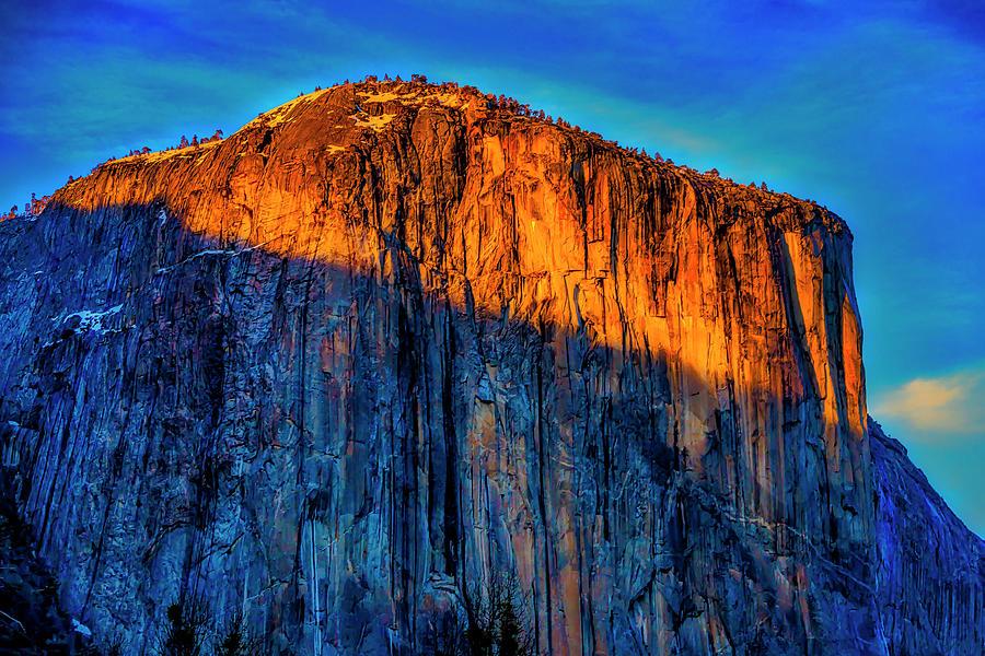 Sun Setting On El Capitan by Garry Gay