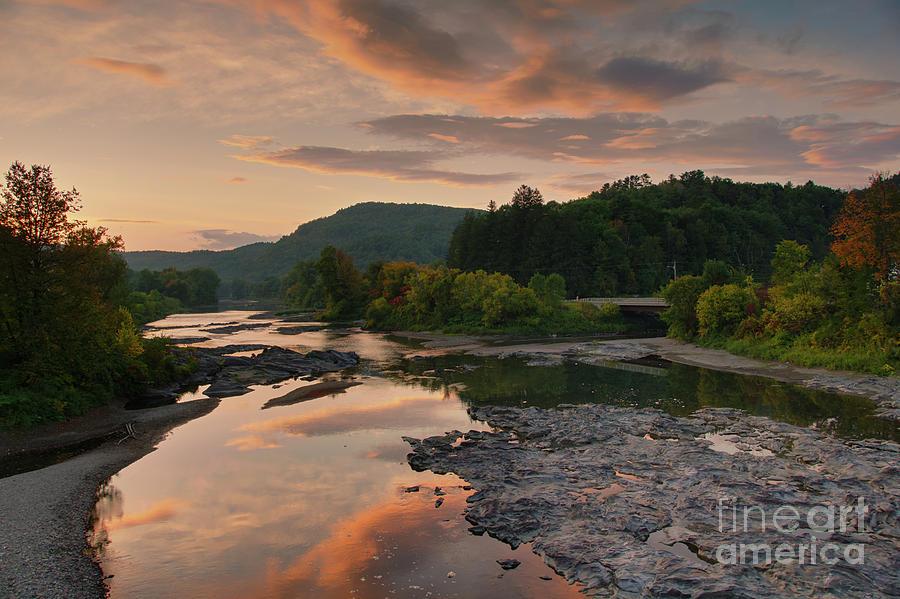 Sun setting over White River by Daniel Brinneman