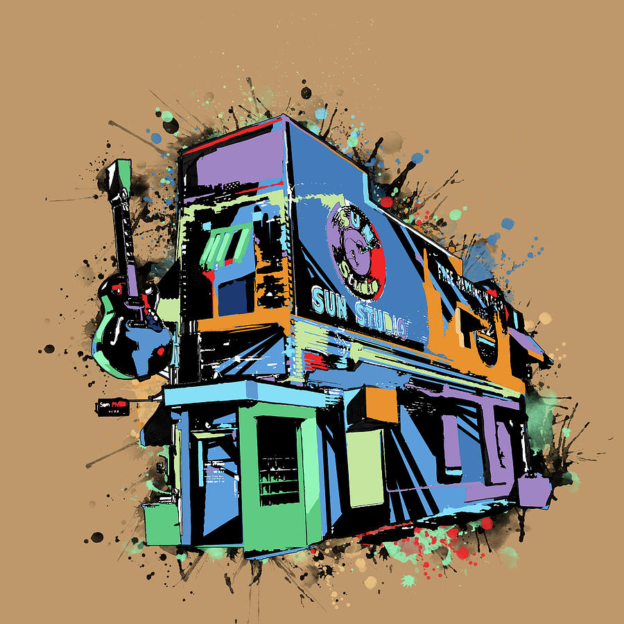 Sun Studio Memphis Pop Art Digital Art