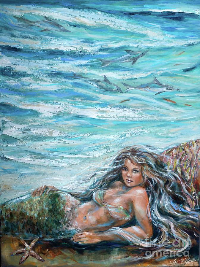 Sunbathing in Cove by Linda Olsen