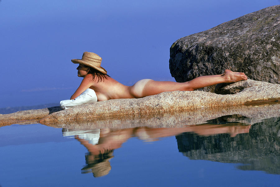 Sunbathing In Sardinia Photograph by Slim Aarons