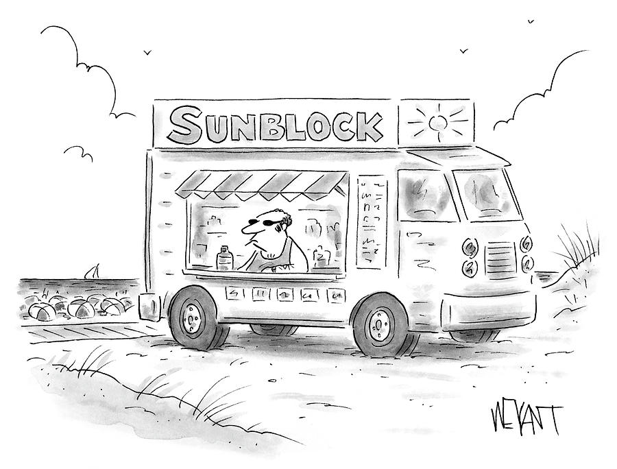 Sunblock Drawing by Christopher Weyant