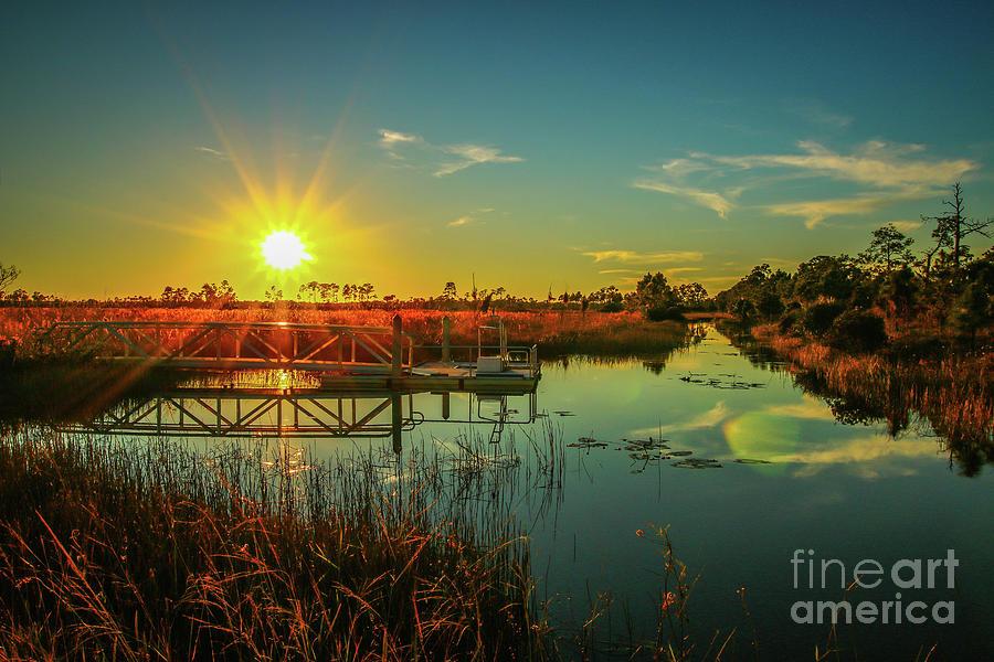 Sunburst Sunset by Tom Claud