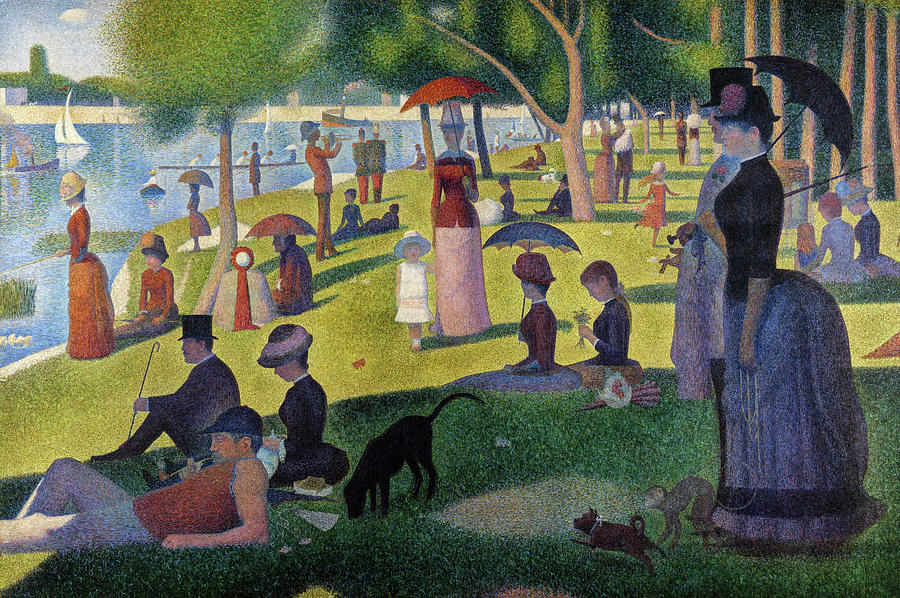 Sunday Afternoon On The Island Of La Grande Jatte 1886 Painting By Georges Seurat