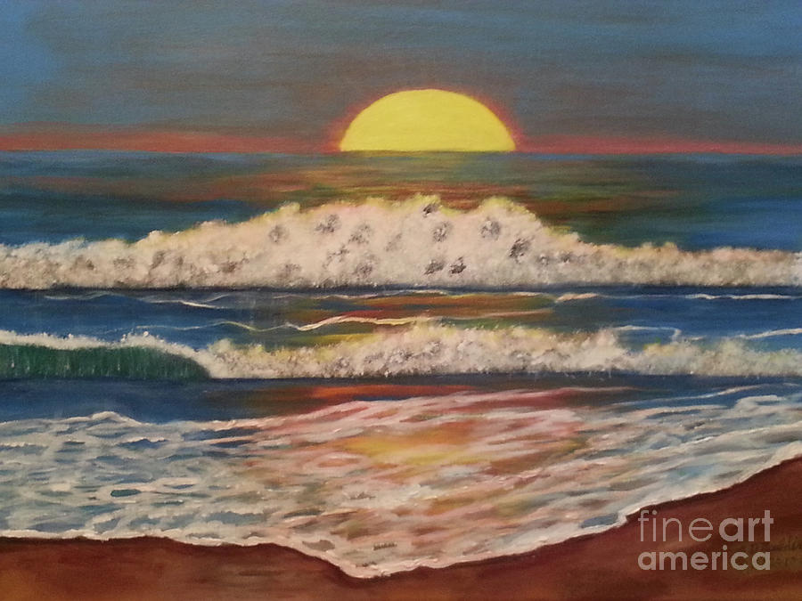 Beach Sunset by Elizabeth Dale Mauldin