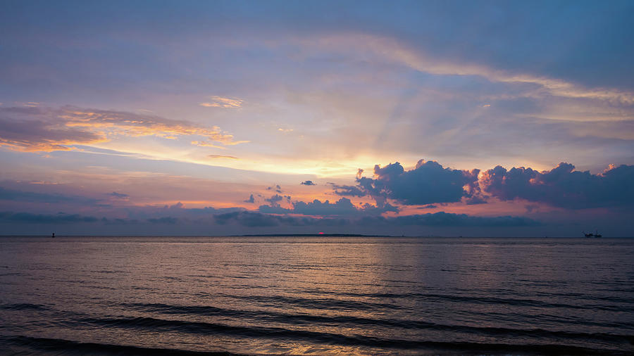Sundown on the Gulf of Mexico by James-Allen