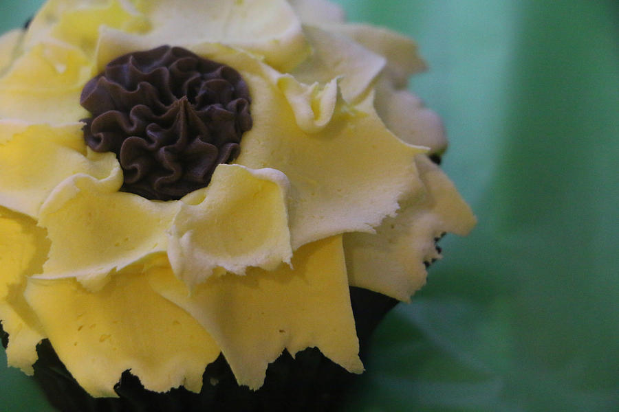 Sunflower Cupcake by The Art Of Marilyn Ridoutt-Greene