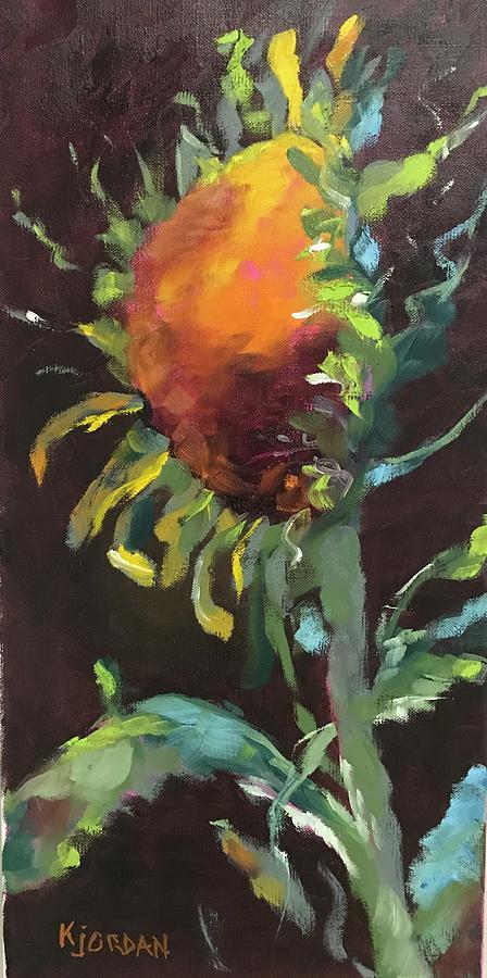 Sunflower Painting - Sunflower Delight by Karen Jordan