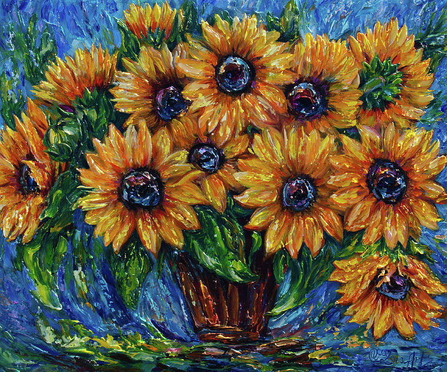 Sunflower Love by OLena Art by OLena Art - Lena Owens