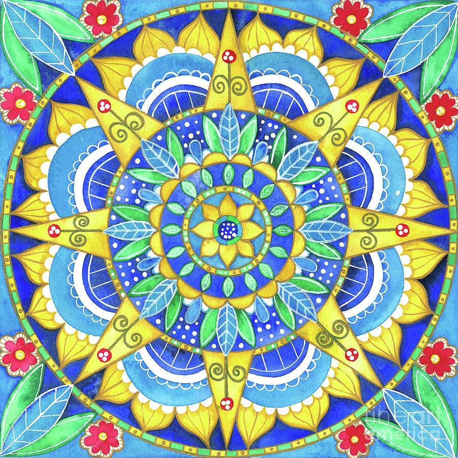 Sunflower Mandala by Shelley Wallace Ylst