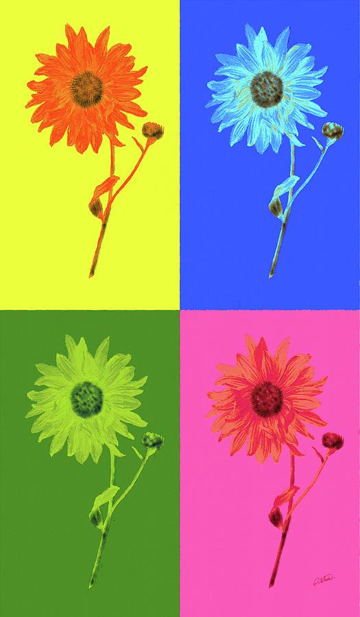 Sunflower Pop - DWP1952019 by Dean Wittle