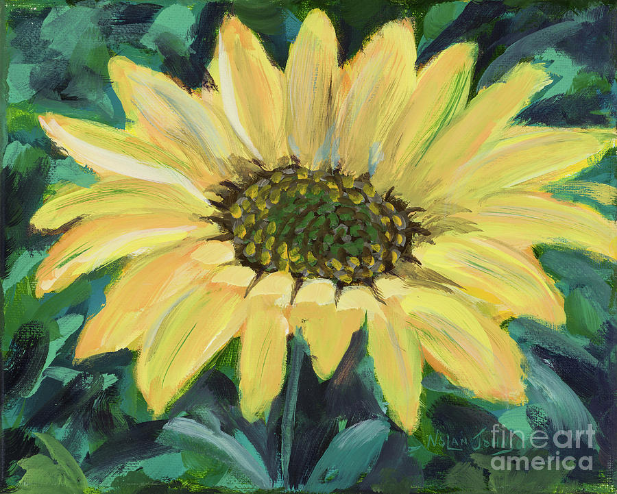 Sunflower Single 1 by Marilyn Nolan-Johnson by Marilyn Nolan-Johnson